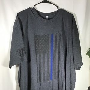Grey T-Shirt with a flag on the Front Size 3XL